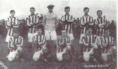 Talbot 1910 in red and white strips