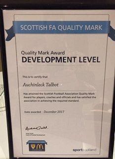 Quality Mark Award Development Level